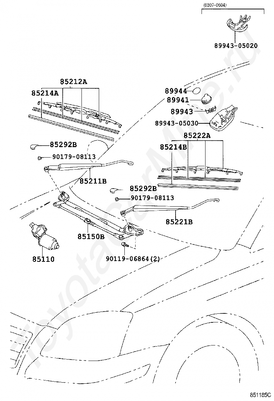 Toyota rav4 2016 каталог запчастей