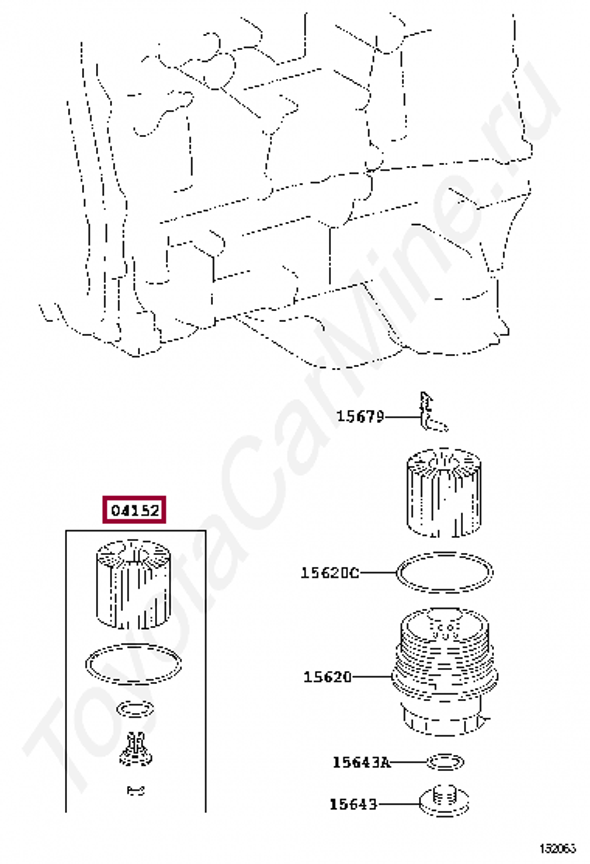фильтр масляный на тойоту рав 4